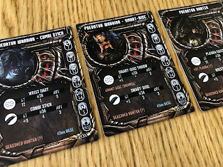Predator stat cards from AvP: The Hunt Begins