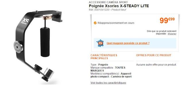 ACCESSOIRE CAMÉRA SPORT Poignée Xsories X-STEADY LITE