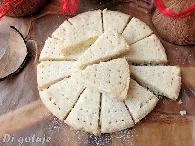 Wegańskie shortbread - szkockie ciasteczka na oleju kokosowym