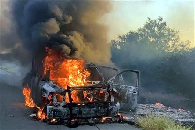 Estatales y Militares retornar a punta de balazos a Sicarios que en mas de 30 Camionetas pretendían ingresar al estado de Coahuila