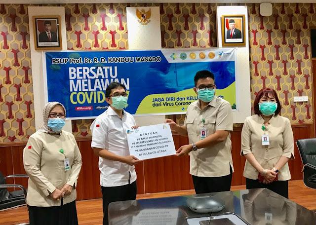 Sumbangkan Ratusan Juta, PT MSM Bantu Penanganan Covid-19 Di Sulut.