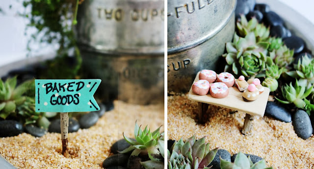 Vintage Baking Themed Fairy Garden DIY