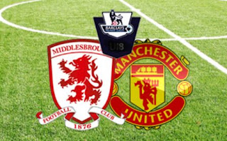 Susunan Pemain Middlesbrough vs Manchester United