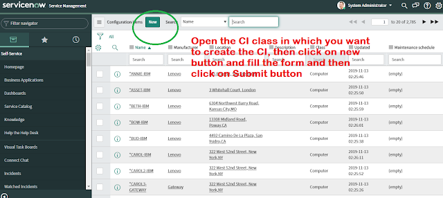 Demonstrate cmdb in servicenow and cmdb basic concepts
