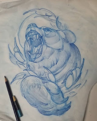 bear tattoo drawing