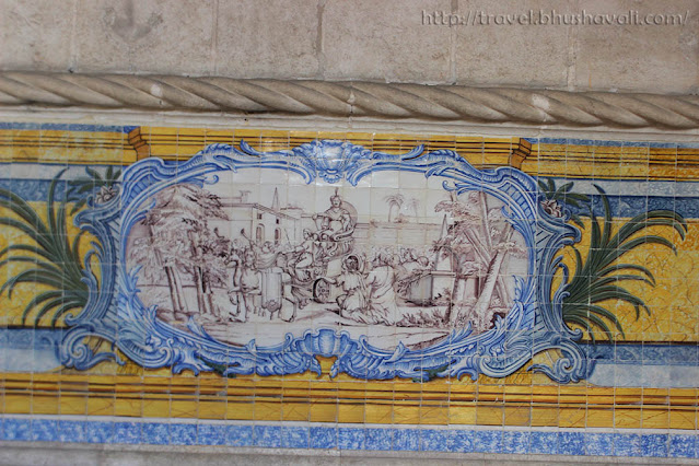 Blue Tiles of Portugal at Refectory of Jeronimos Monastery