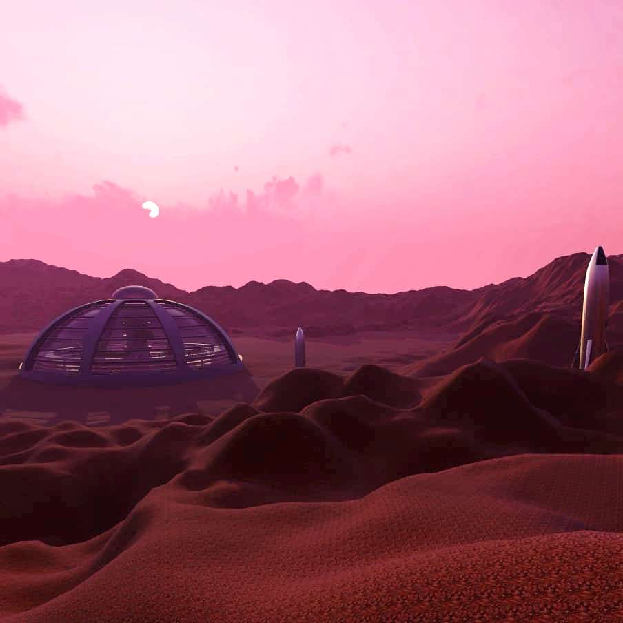Domed Mars Colony by Arss Design