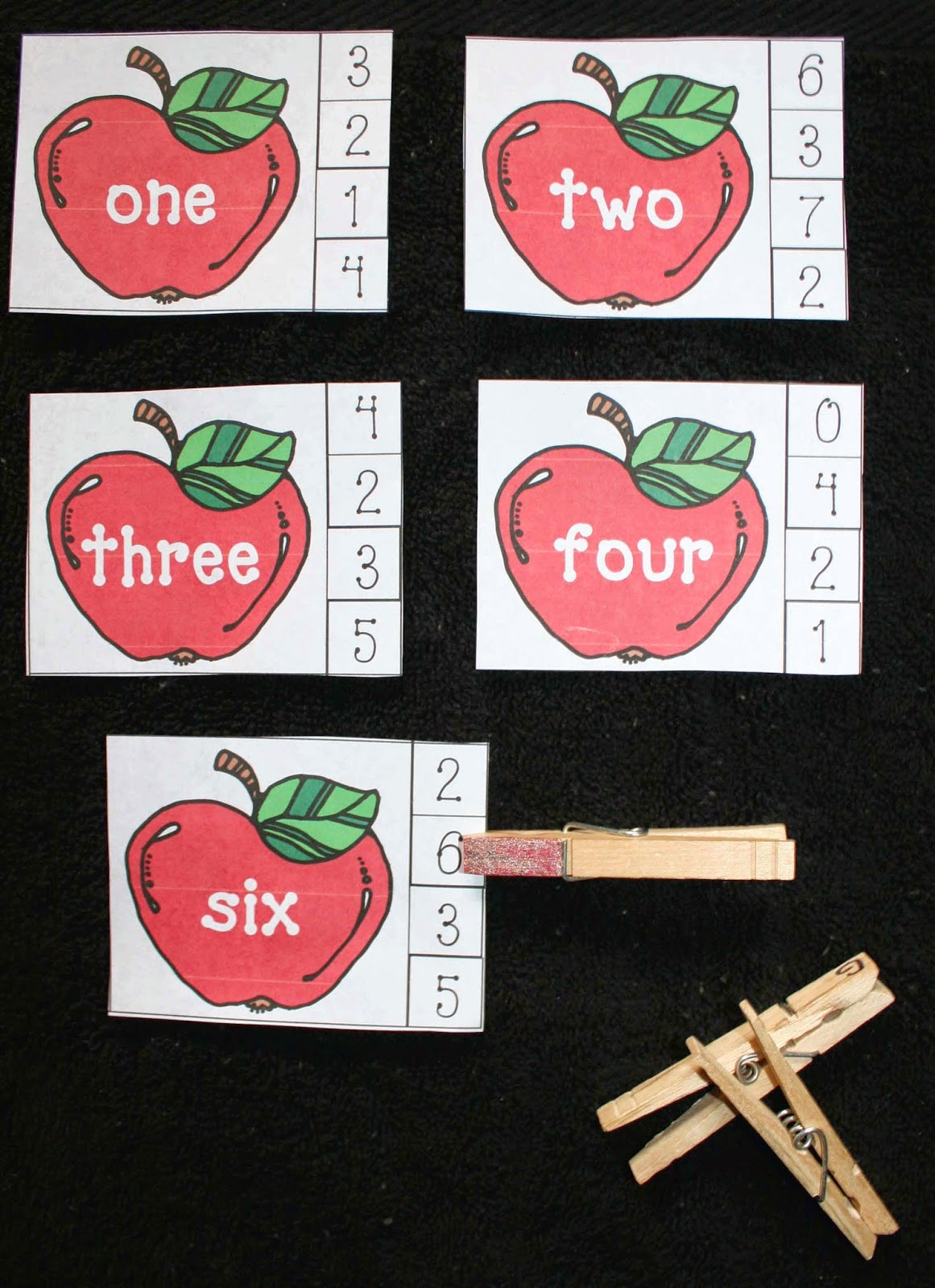 Classroom Freebies Apple Number Word Matching Game