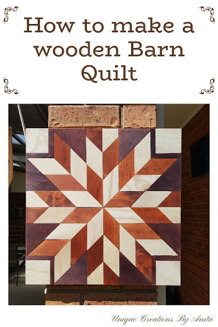 How to make a wooden barn quilt - full tutorial.
