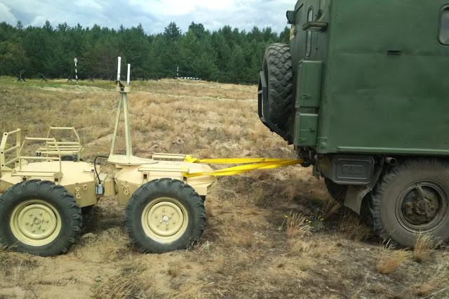 Ucraine thử nghiệm robot tự hành