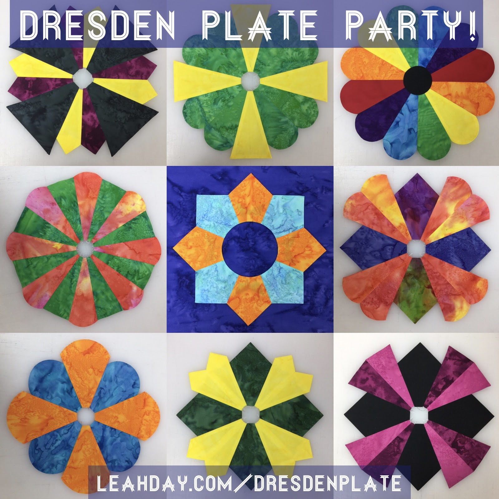 The Free Motion Quilting Project Dresden Plate Party