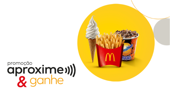 Promoção McDonald's aproxime e ganhe