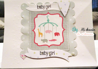Tarjeta baby girl