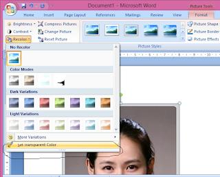 Cara Menghilangkan Background Foto di MS Word