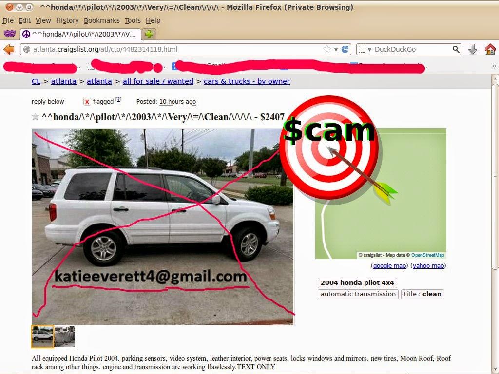Craigslist Scam Ads 02 12 2014 Vehicle Scams Google Wallet