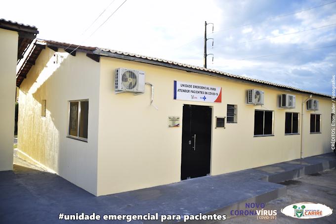 Prefeito Elmo Aguiar entrega à população de Cariré, a primeira unidade emergencial para atender pacientes do COVID-19