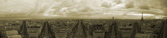Paris view from Arc de Triomphe (Facing East)