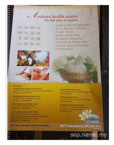 Arokaya - Pusat Urut Thai Tradisional