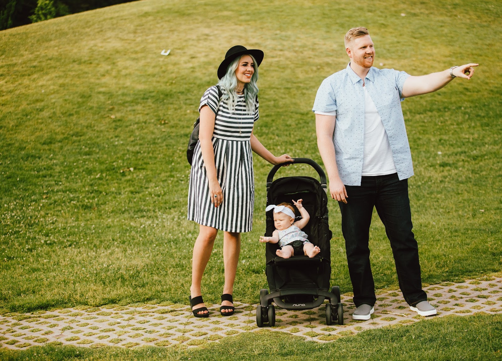 Striped Dress, Crocs, Family Photos