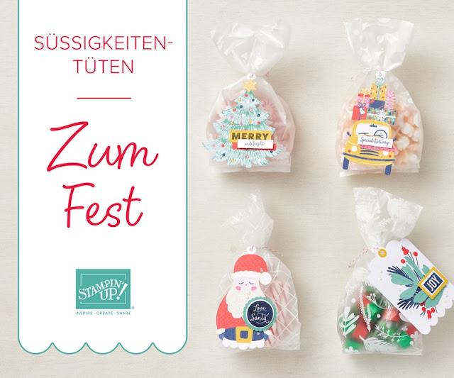 """Süßigkeiten-Tüten """"Zum Fest"""""""