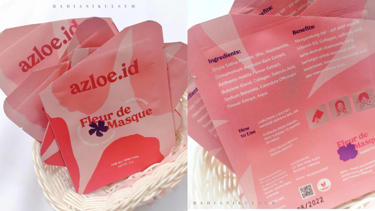 Kemasan Azloe Fleur de Masque