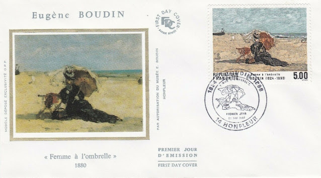 France 1987 FDC Eugene Boudin FDC
