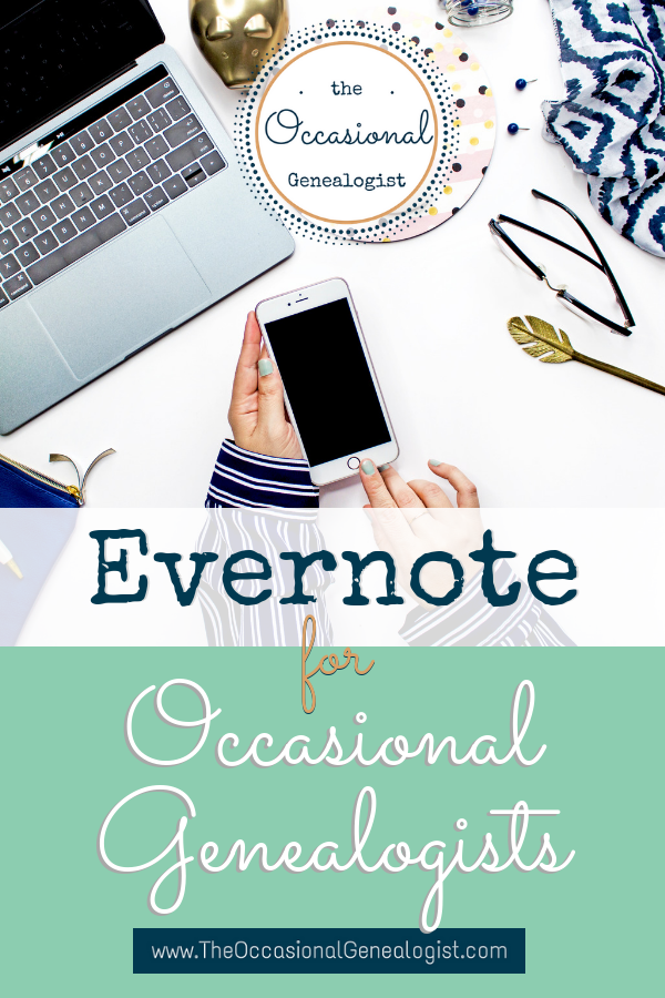 Evernote for Occasional Genealogists