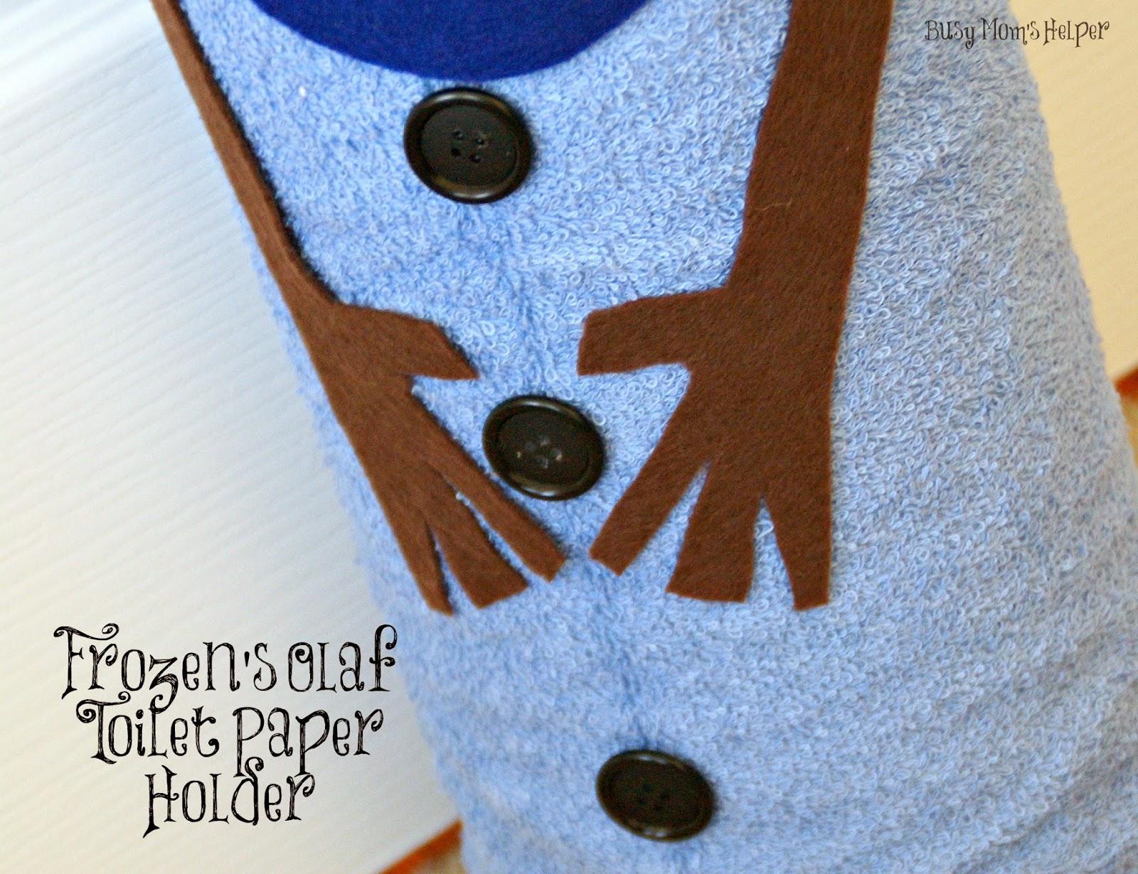 DIY Frozen's Olaf Toilet Paper Holder
