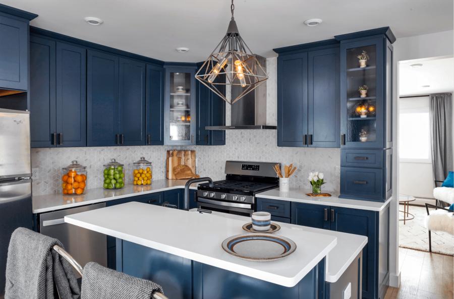 Blue Kitchen Cabinet Color Novocom Top