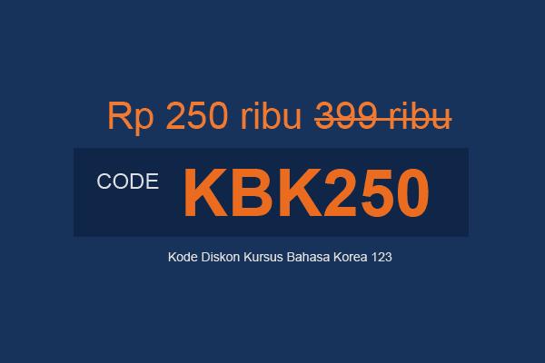 kode diskon kursus kbk123 kode kbk250