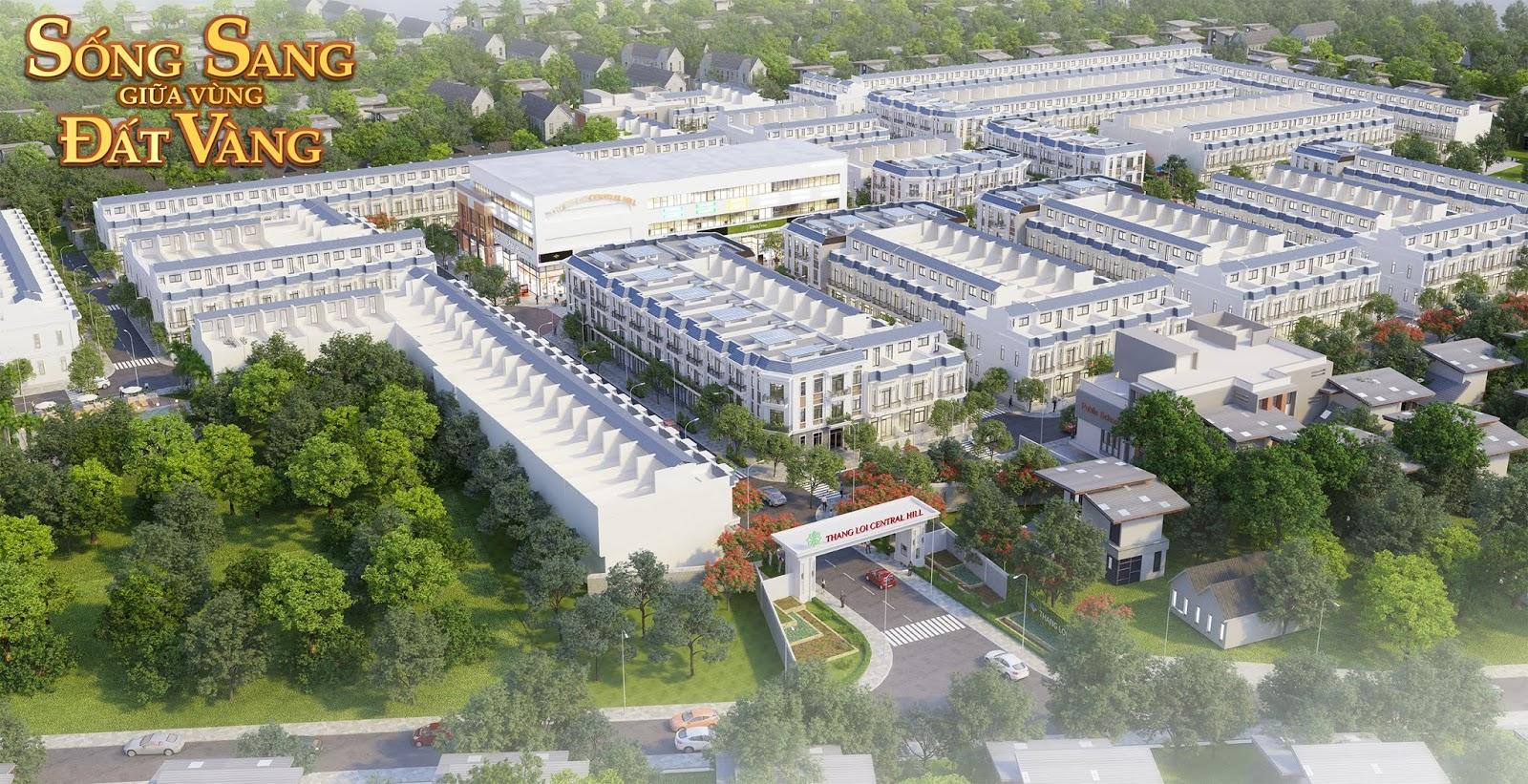 Phối cảnh dự án Thắng Lợi Central Hill