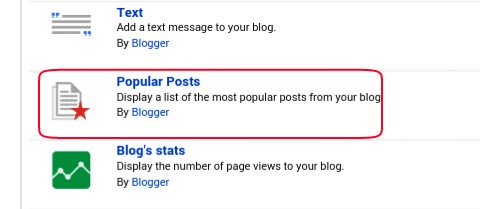 click on popular posts