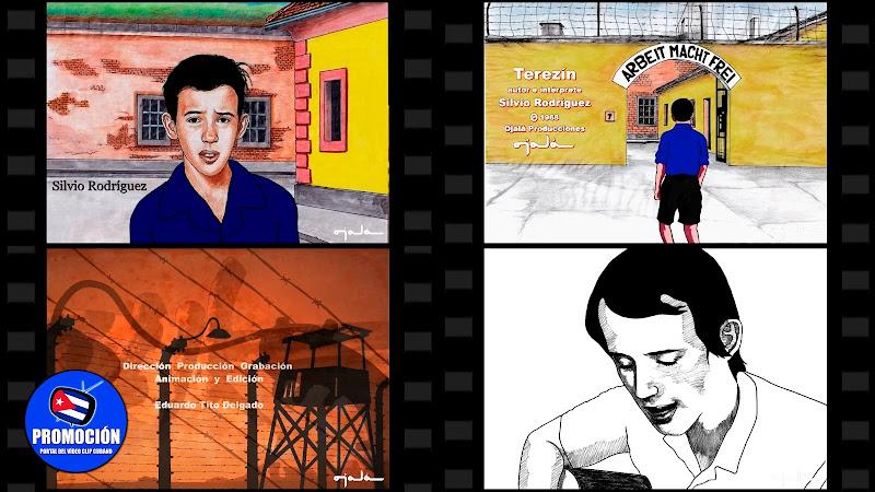Silvio Rodríguez - ¨Terezín¨ - Videoclip / Dibujo Animado - Director: Eduardo (Tito) Delgado. Portal Del Vídeo Clip Cubano. Música cubana. Canción. Nueva Trova. CUBA.