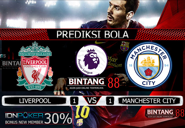 PREDIKSI BOLA - Pada hari Minggu, 10 November 2019 pukul 23:30 waktu indonesia barat akan di adakan laga pertandingan Liga English Premier League antara Liverpool vs Manchester City. Pertandingan ini nantinya akan di laksanakan di Stadion Anfield.