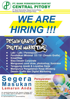 Loker Kupang di BPR Central Pitoby Sebagai Desain Grafis dan Digital Marketing