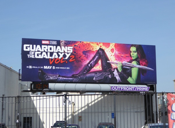 Gamora Guardians of Galaxy 2 billboard