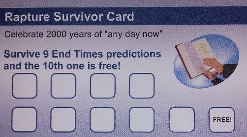 Rapture survivor card funny religious picture
