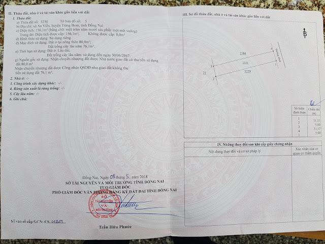 Bán đất xã An Viễn Huyện Trảng Bom giá rẻ (CYNT)