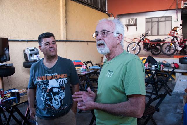 Cícero Lima, mentor, curador e sempre nos bastidores do Motos Clássicas 80 com Josias Silveira, que foi seu chefe na   redação da revista Duas Rodas