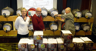 Volunteers manning the bar at Brigg Beer Festival at the Servicemen's Club - May 2019