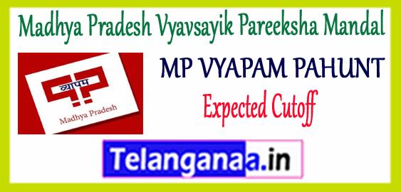 MP VYAPAM PAHUNT Madhya Pradesh Vyavsayik Pareeksha Mandal Application 2018 Cut Off