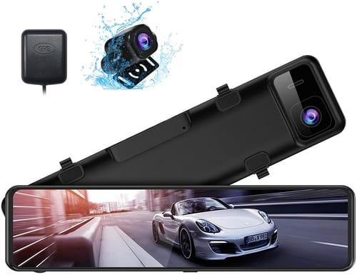 XTU Touch Screen 2.5K Mirror Dash Cam for Cars