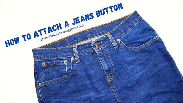 How to Attach -Install a Jeans Button | Jak nabić metalowy guzik