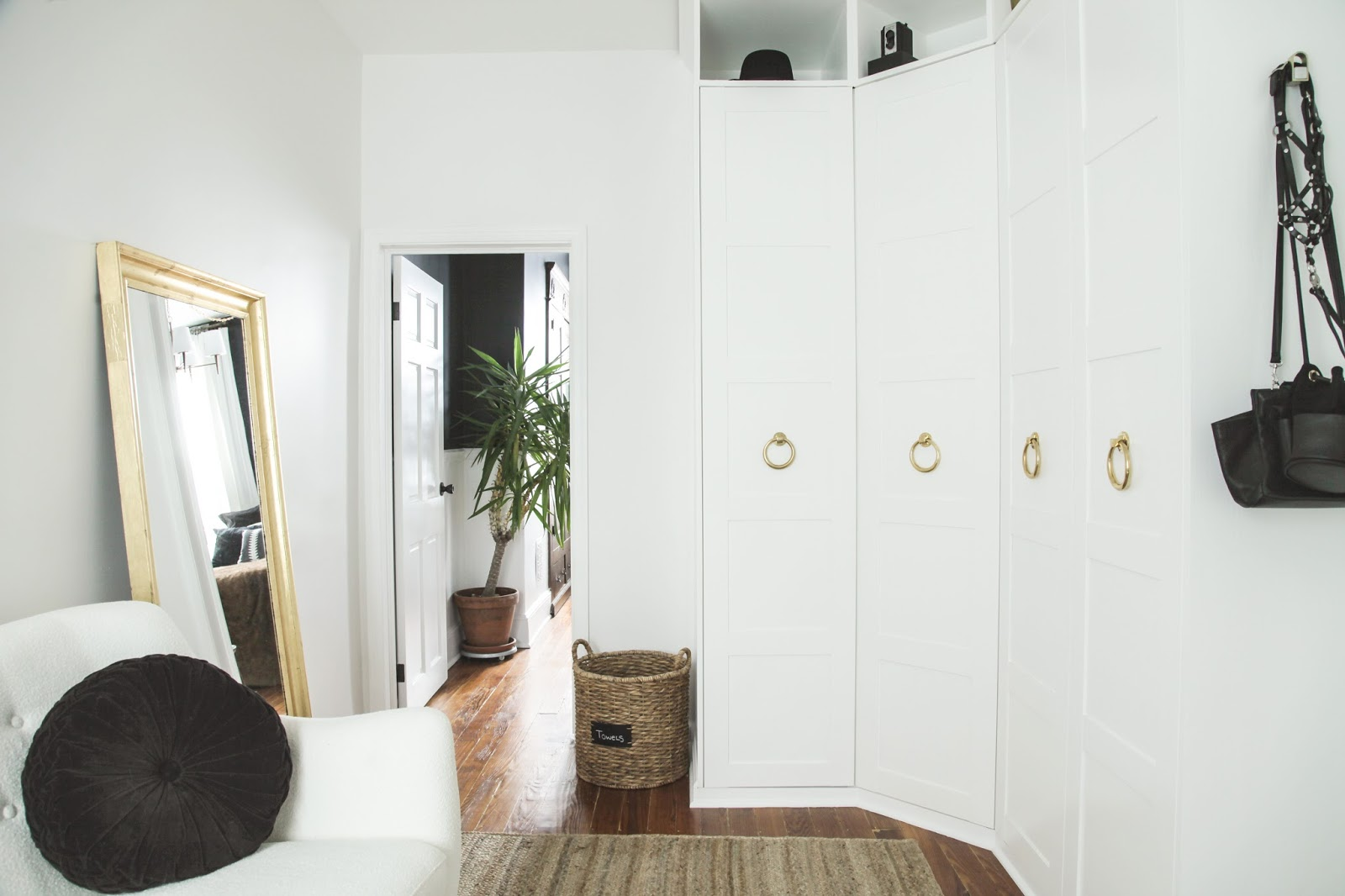 Modern Dressing Room with Pax Wardrobe Custom Closet
