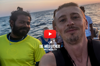 Tigerhaie und Delfine, Malediven, WELTREISE.TV Arkadijs Weltreise
