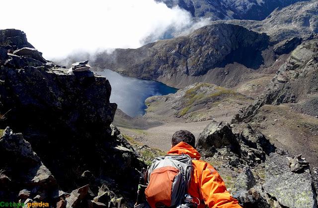 Descendiendo de La Gran Facha en Pirineos