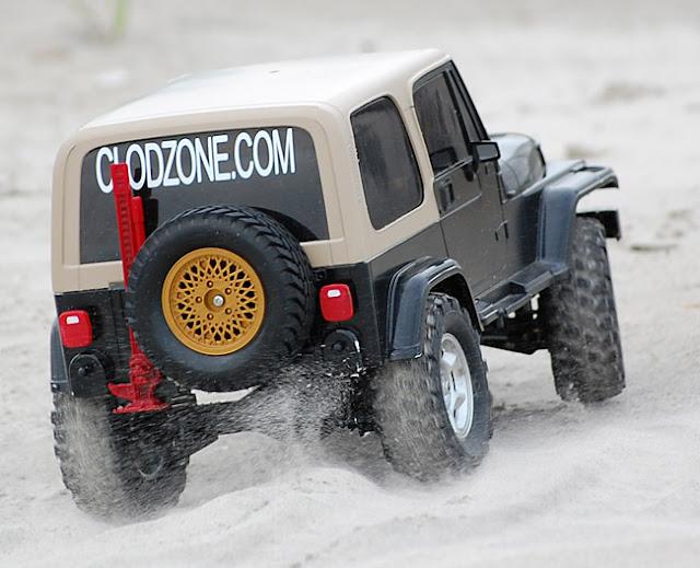 Tamiya Jeep Wrangler beach sand fun