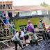 Koramil 0821/05 Kedungjajang Karya Bakti Pembangunan Gedung MA Nurut Tauhid