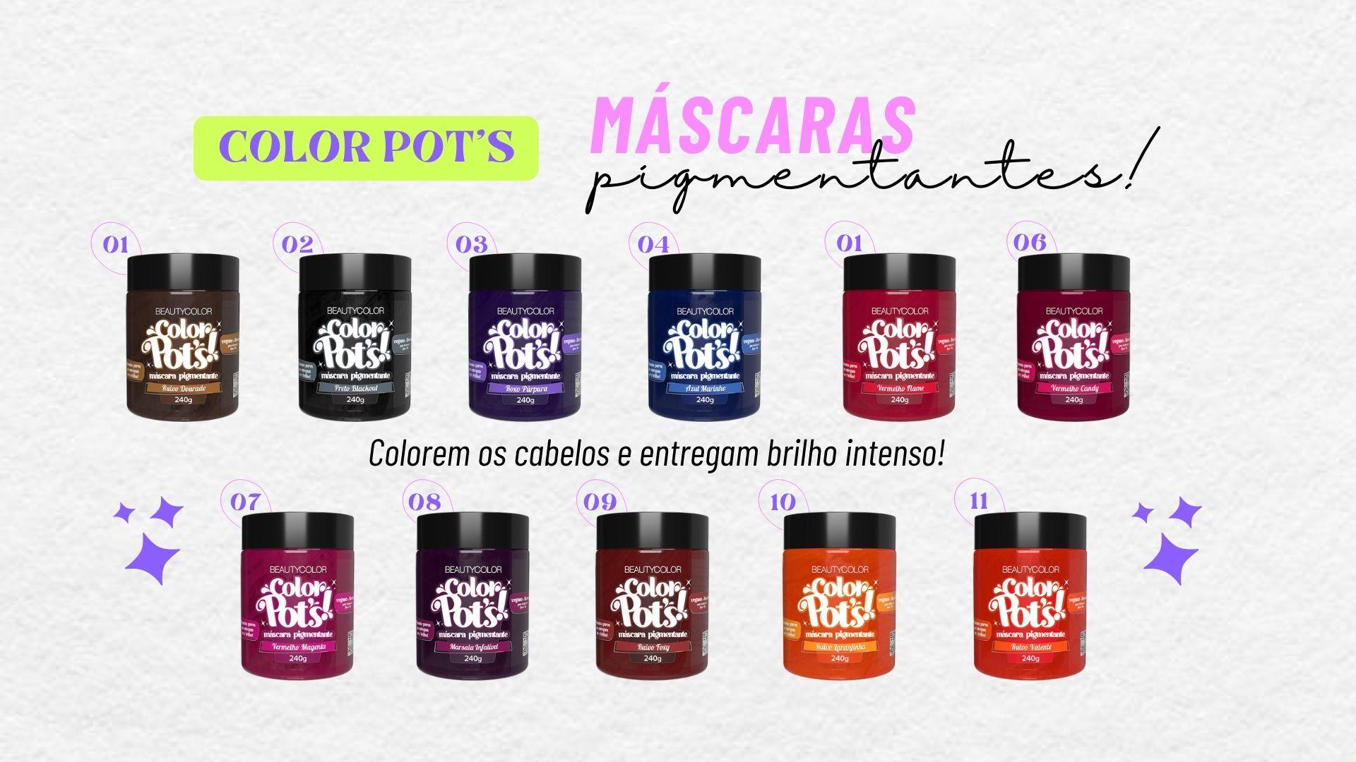 mascaras pigmentantes solor pot's Beautycolor