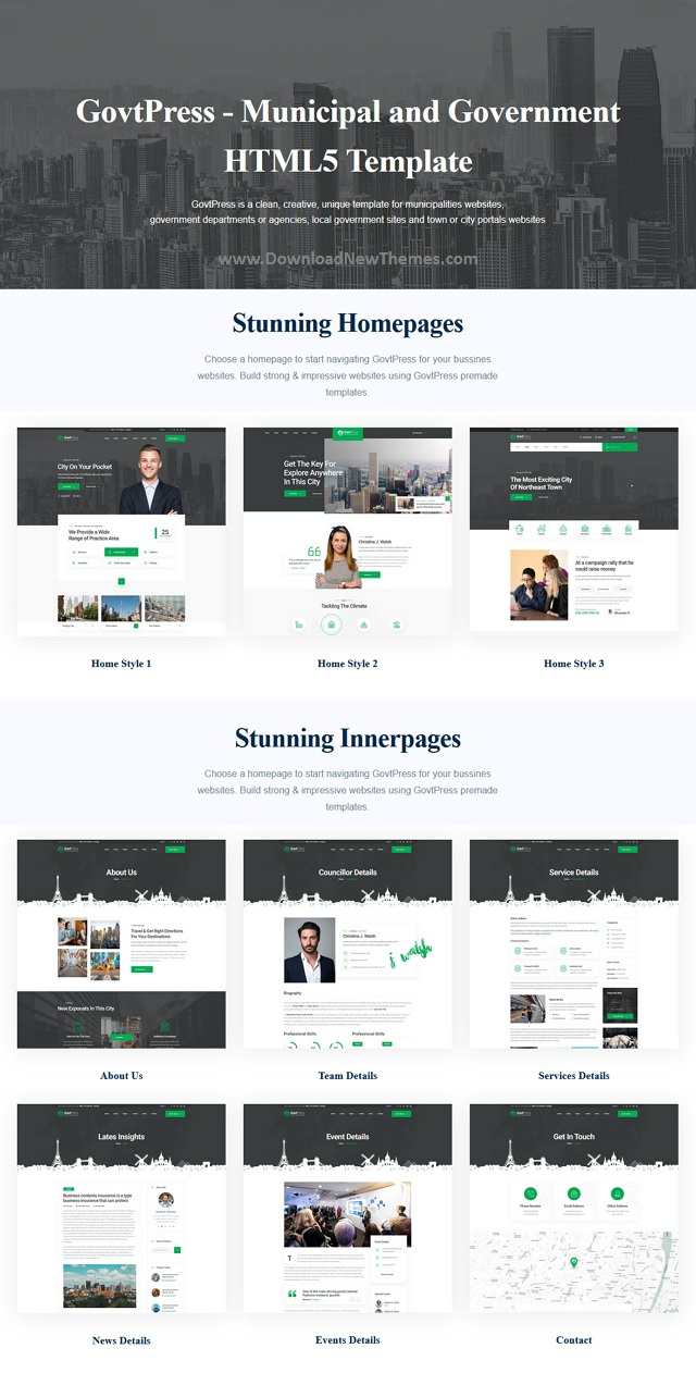 Municipal and Government HTML5 Template
